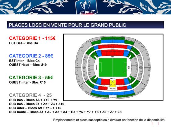 Finale coupe de france 3 000 places saisir lille losc - Vente billet finale coupe de la ligue ...