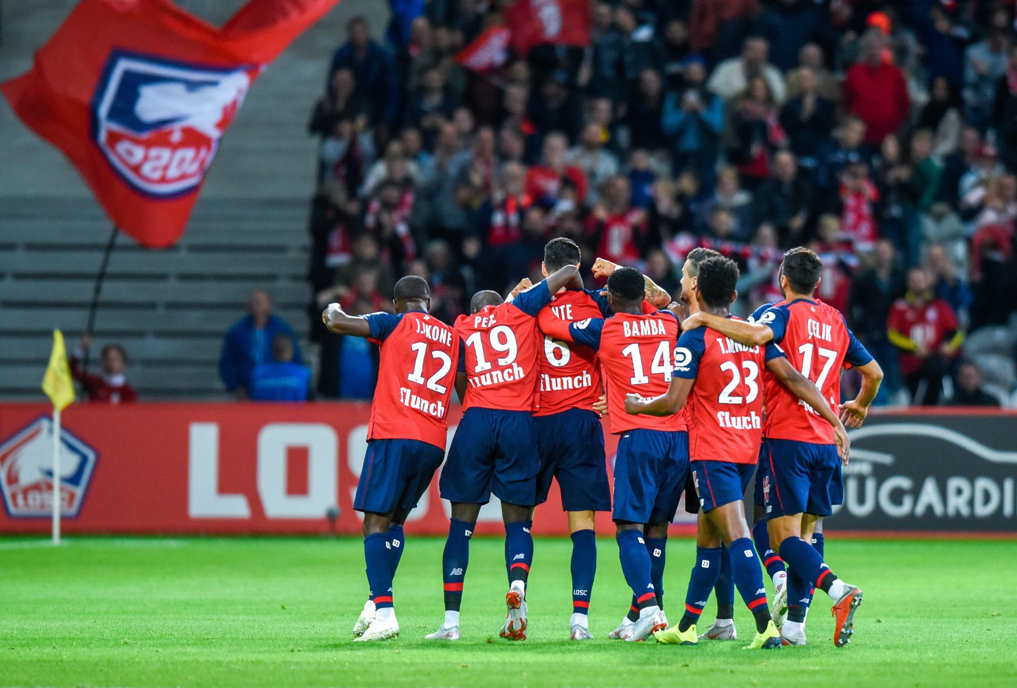 El Lille celebrando su pase a Champions (Foto: Lille OSC).